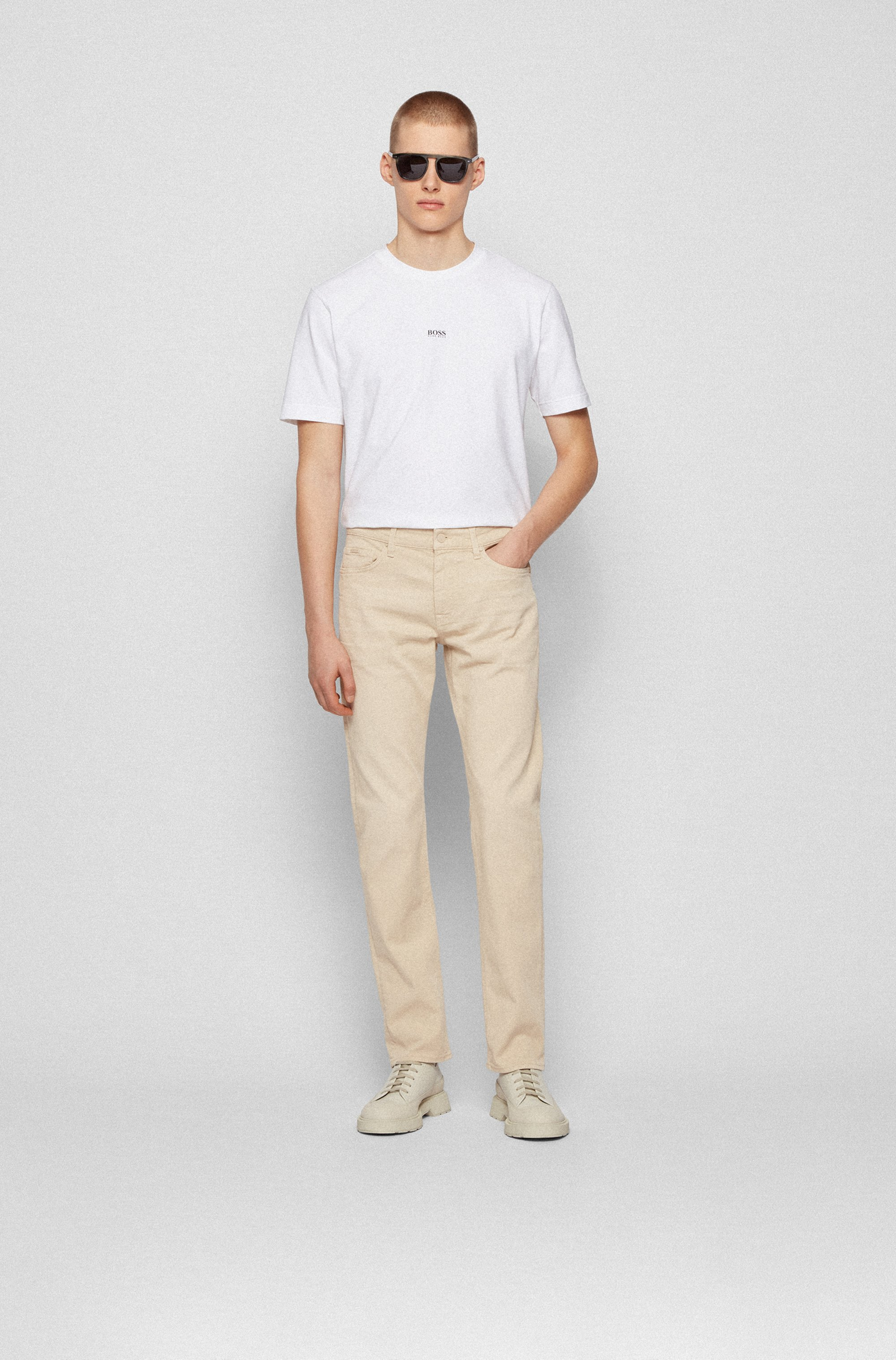 Slim-fit jeans in cashmere-touch Italian denim