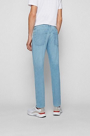 蓝色柔软弹力牛仔布修身牛仔裤,  450_Light/Pastel Blue