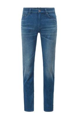 Slim-fit jeans in blue supreme-movement Italian denim, Blue