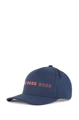 Cotton-blend cap with logo artwork, Dark Blue