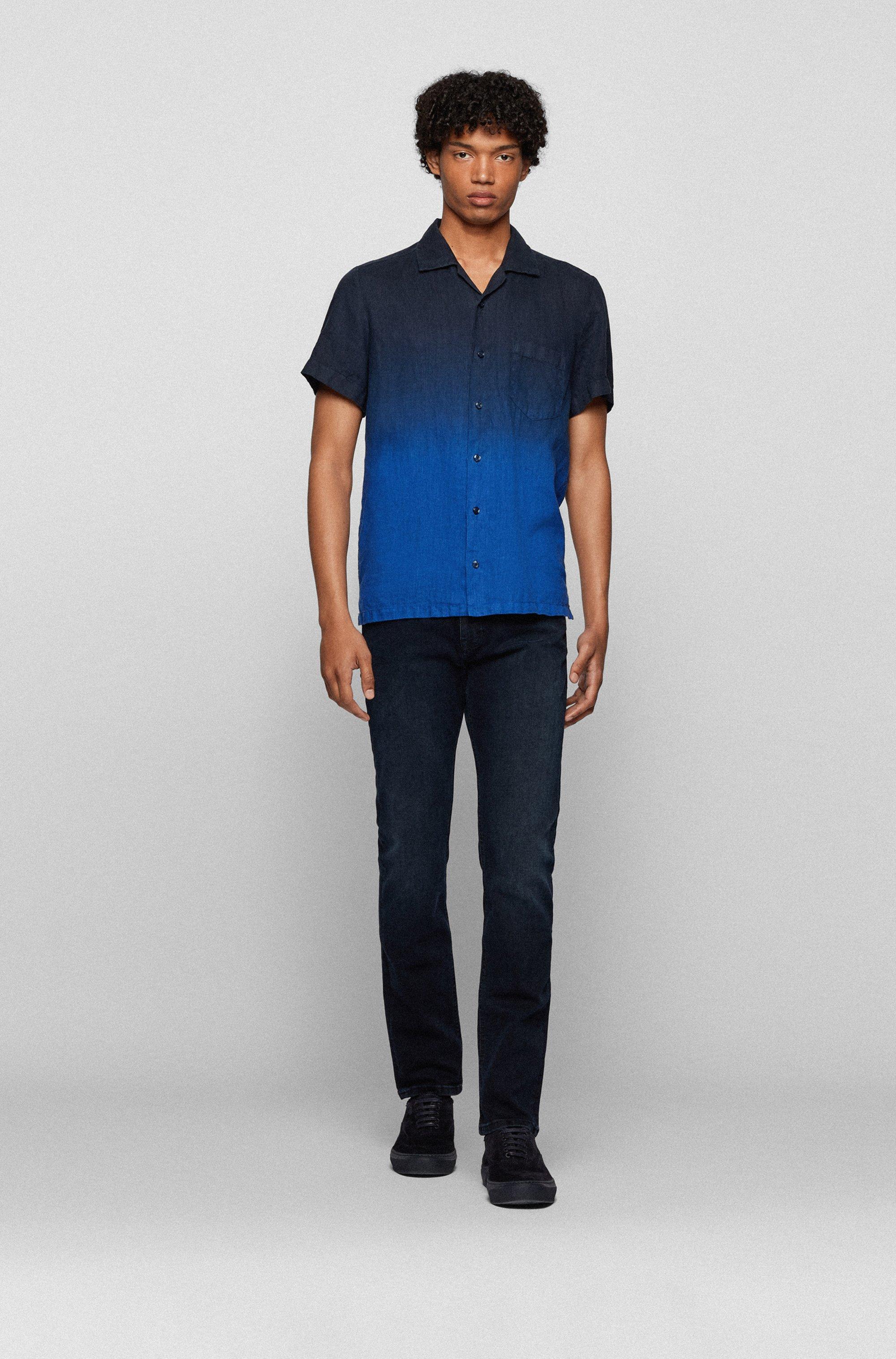 Slim-fit jeans in dark-blue super-stretch denim