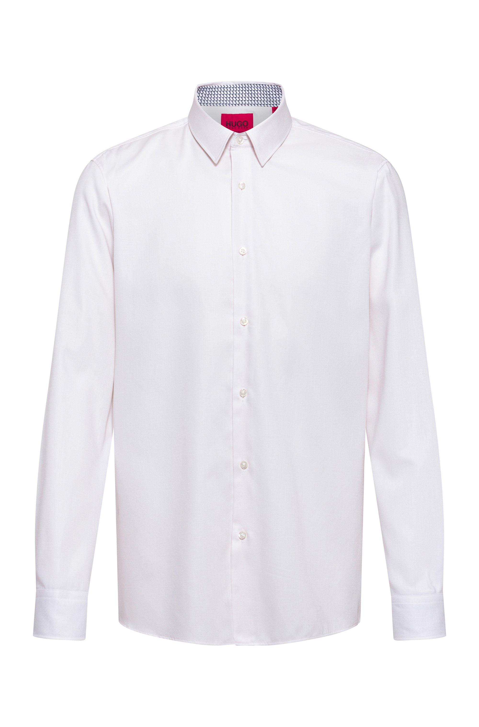 Regular-fit overhemd van gemakkelijk te strijken oxfordkatoen, Lichtroze