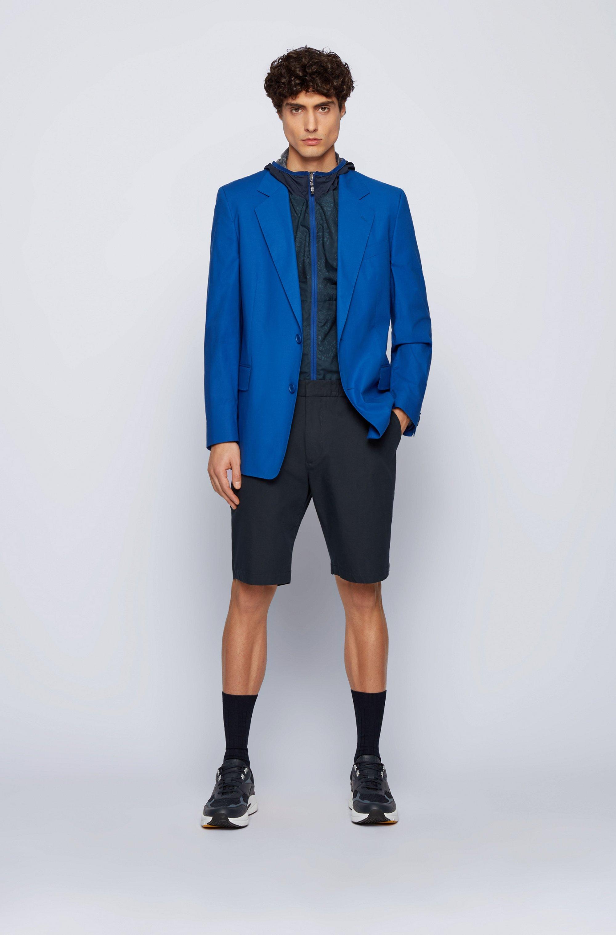 Slim-fit shorts in bi-stretch cotton-blend twill