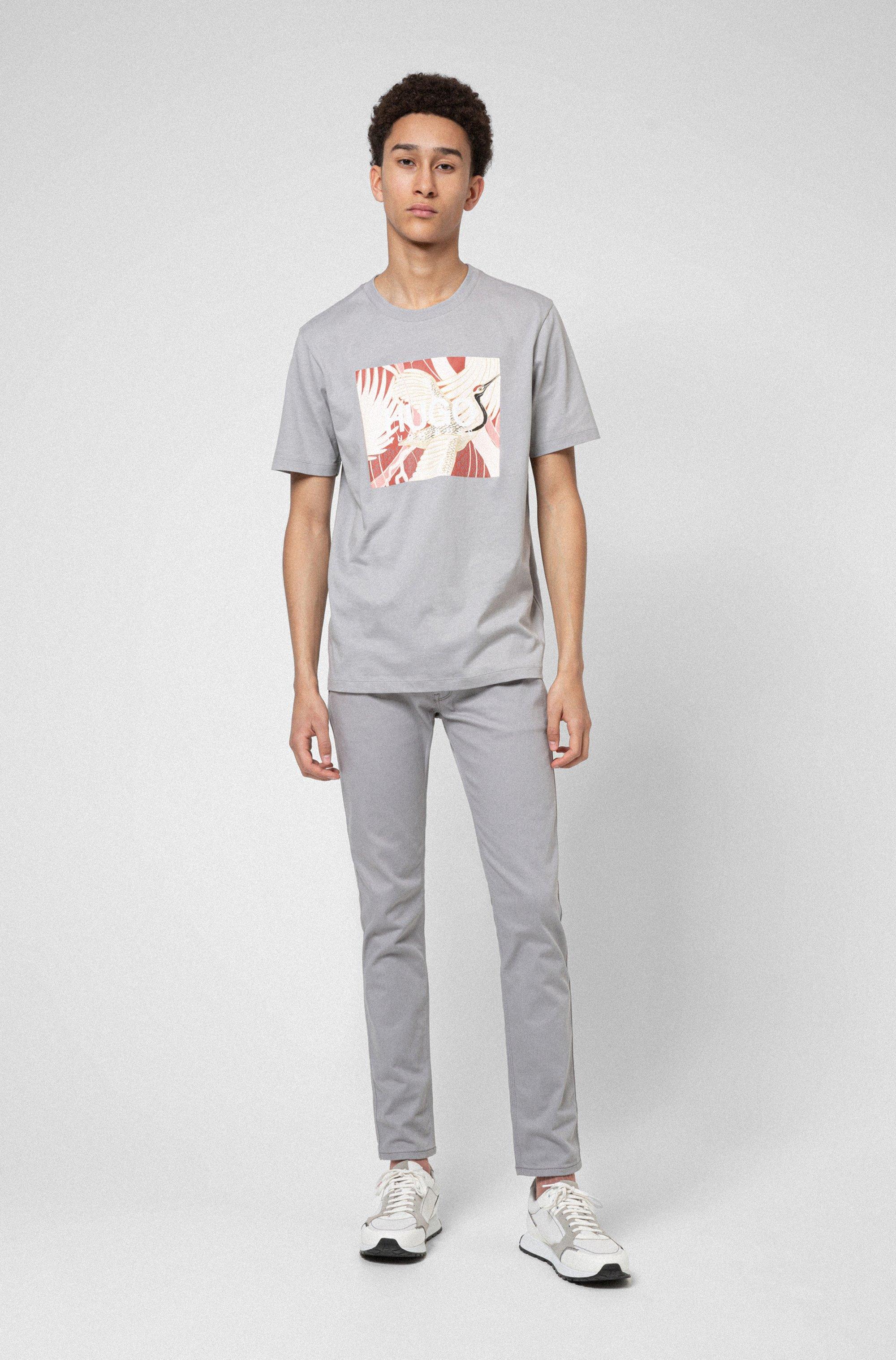 Extra-slim-fit jeans in dark-grey stretch denim