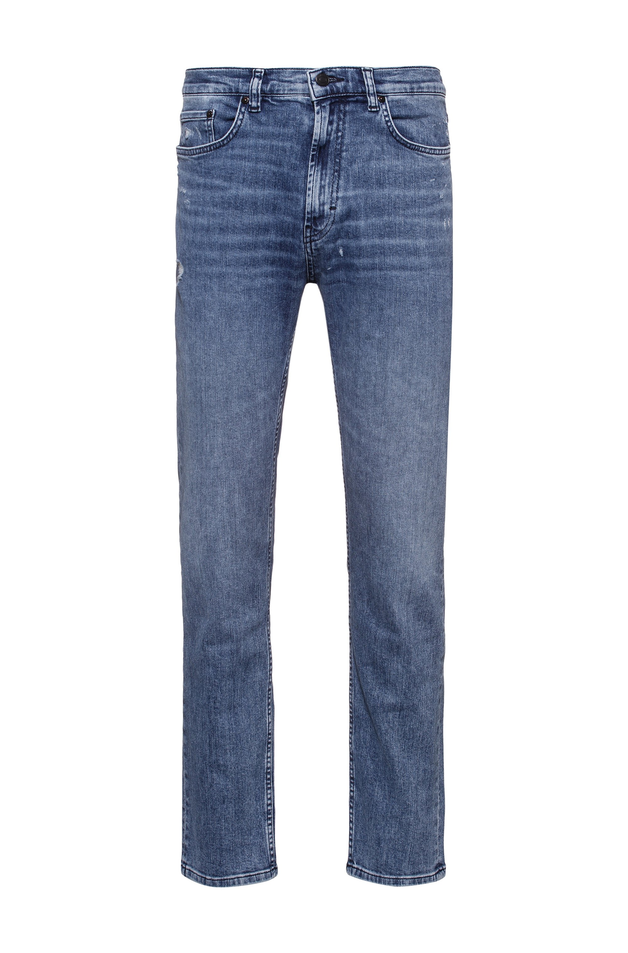 Jean Relaxed Fit en confortable denim stretch biologique bleu, bleu clair