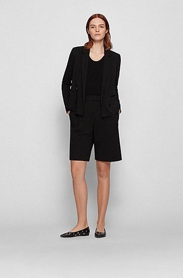 初剪羊毛常规版型阔腿短裤,  001_Black