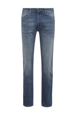 Slim-fit jeans in blue comfort-stretch denim, Light Blue