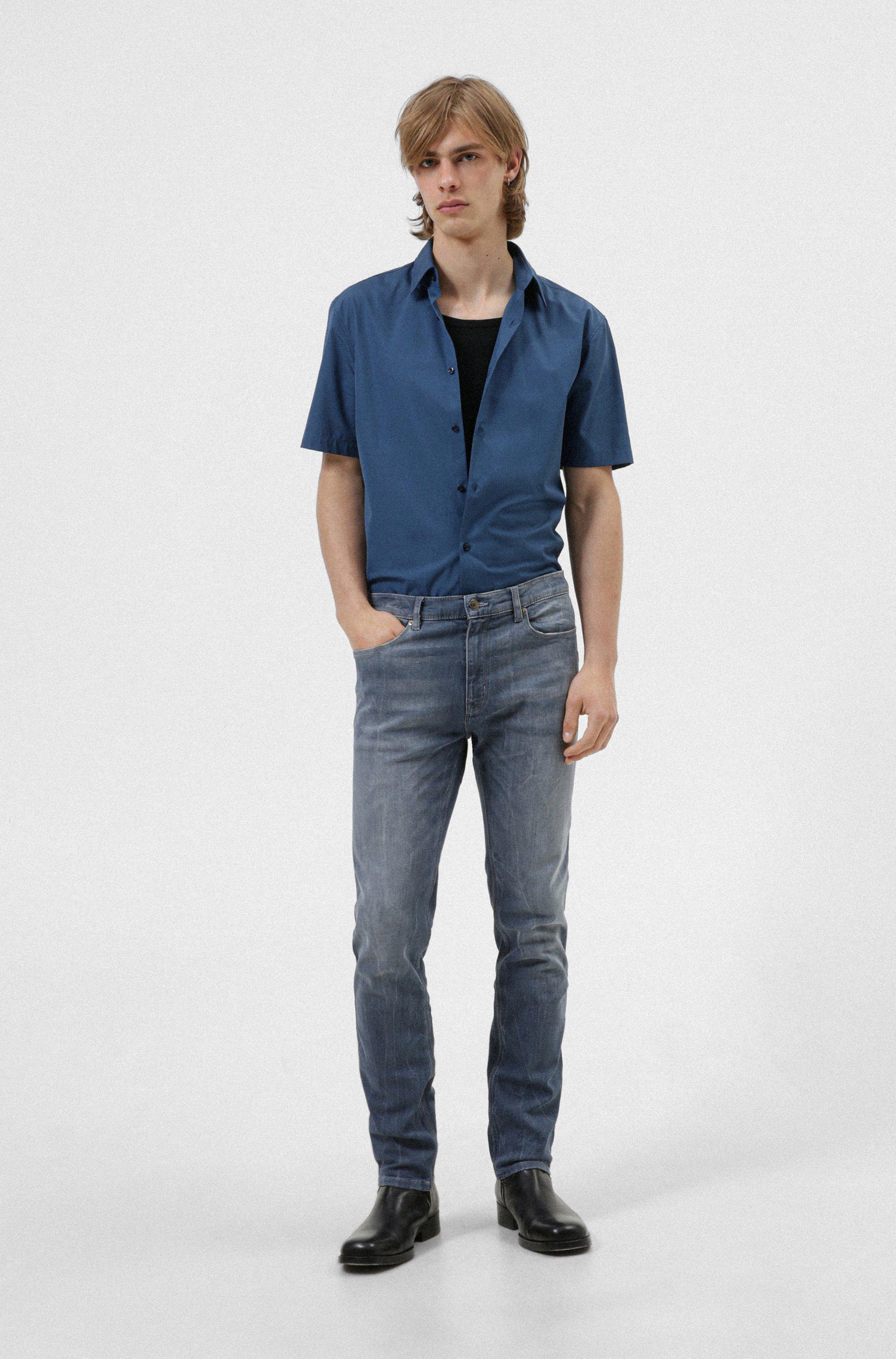 Slim-fit jeans in blue comfort-stretch denim