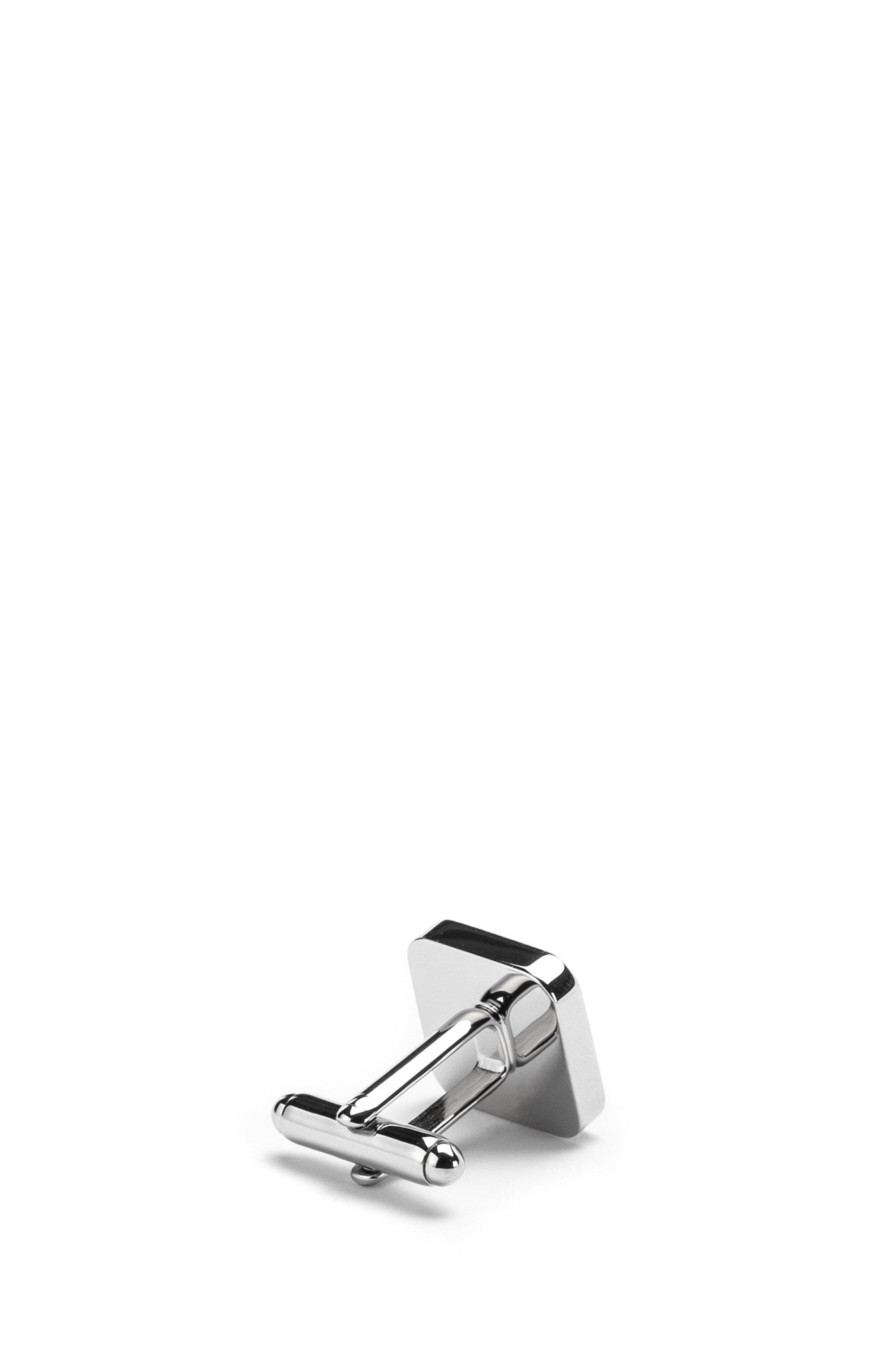 Square cufflinks with mother-of-pearl insert