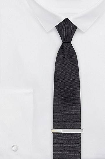 珍珠母贝嵌饰抛光金属材质领带夹,  107_Natural