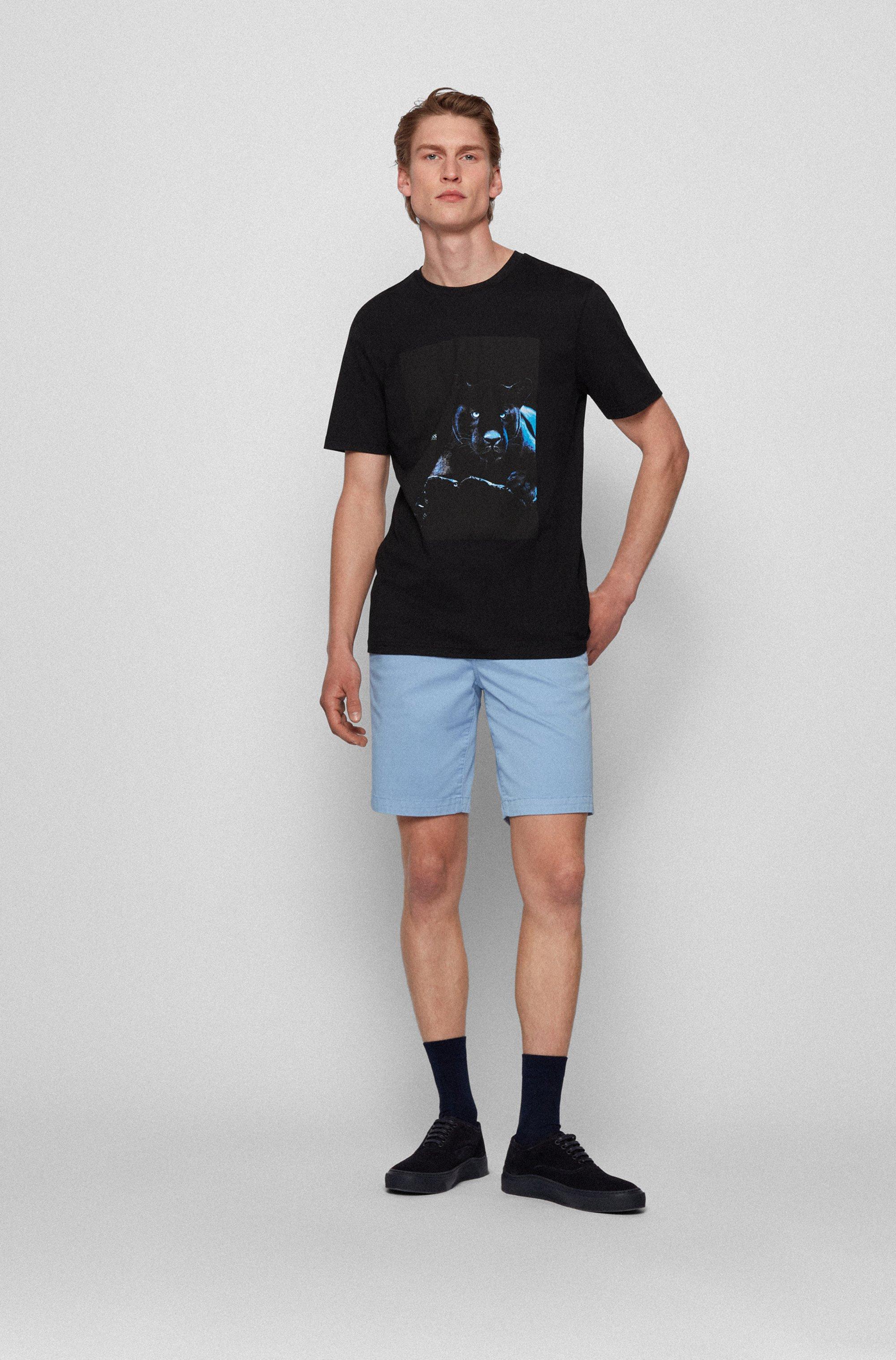 T-Shirt aus Baumwolle mit im Dunkeln leuchtendem Print