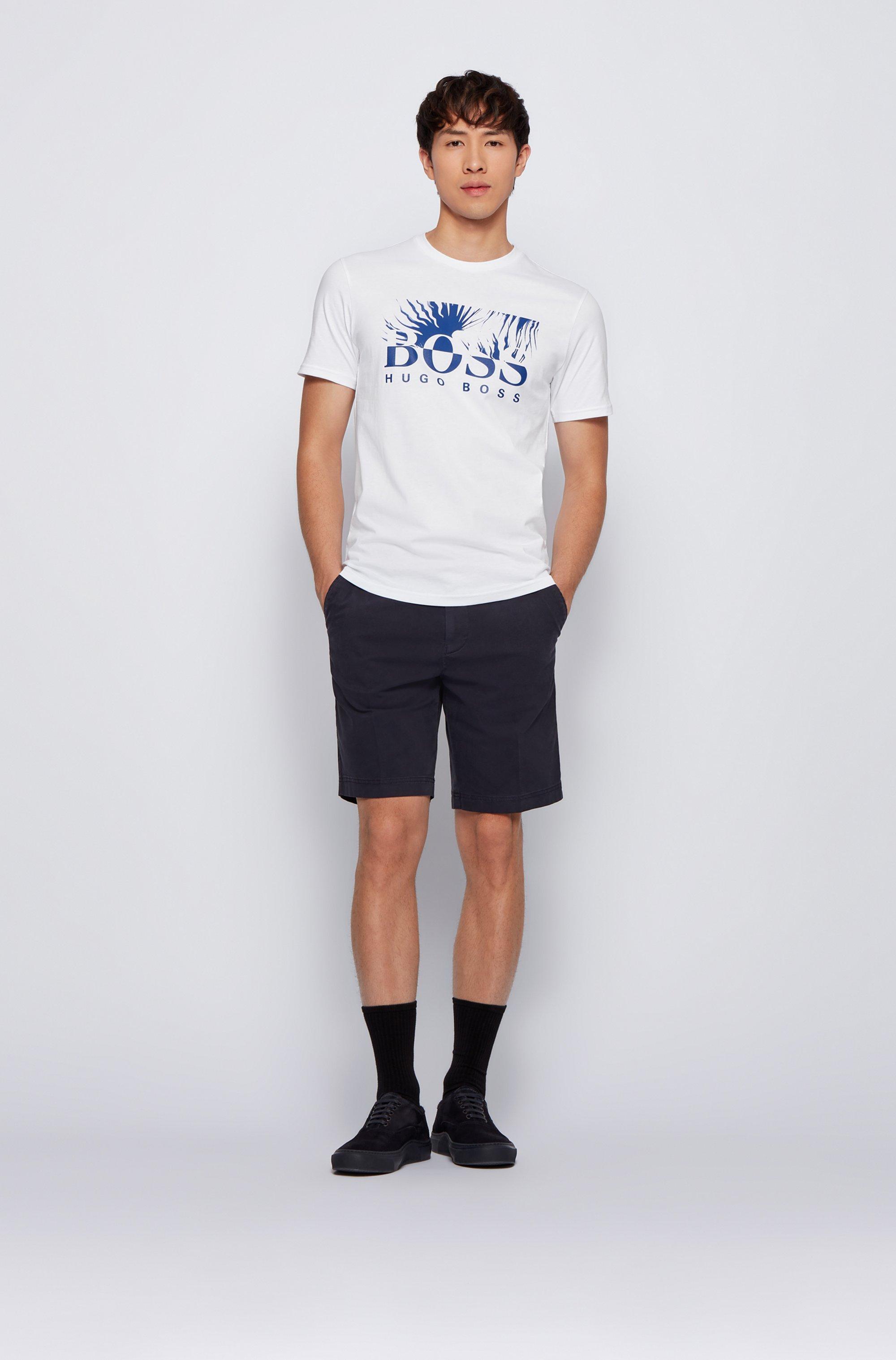 T-shirt Regular Fit en jersey de coton avec logo artistique