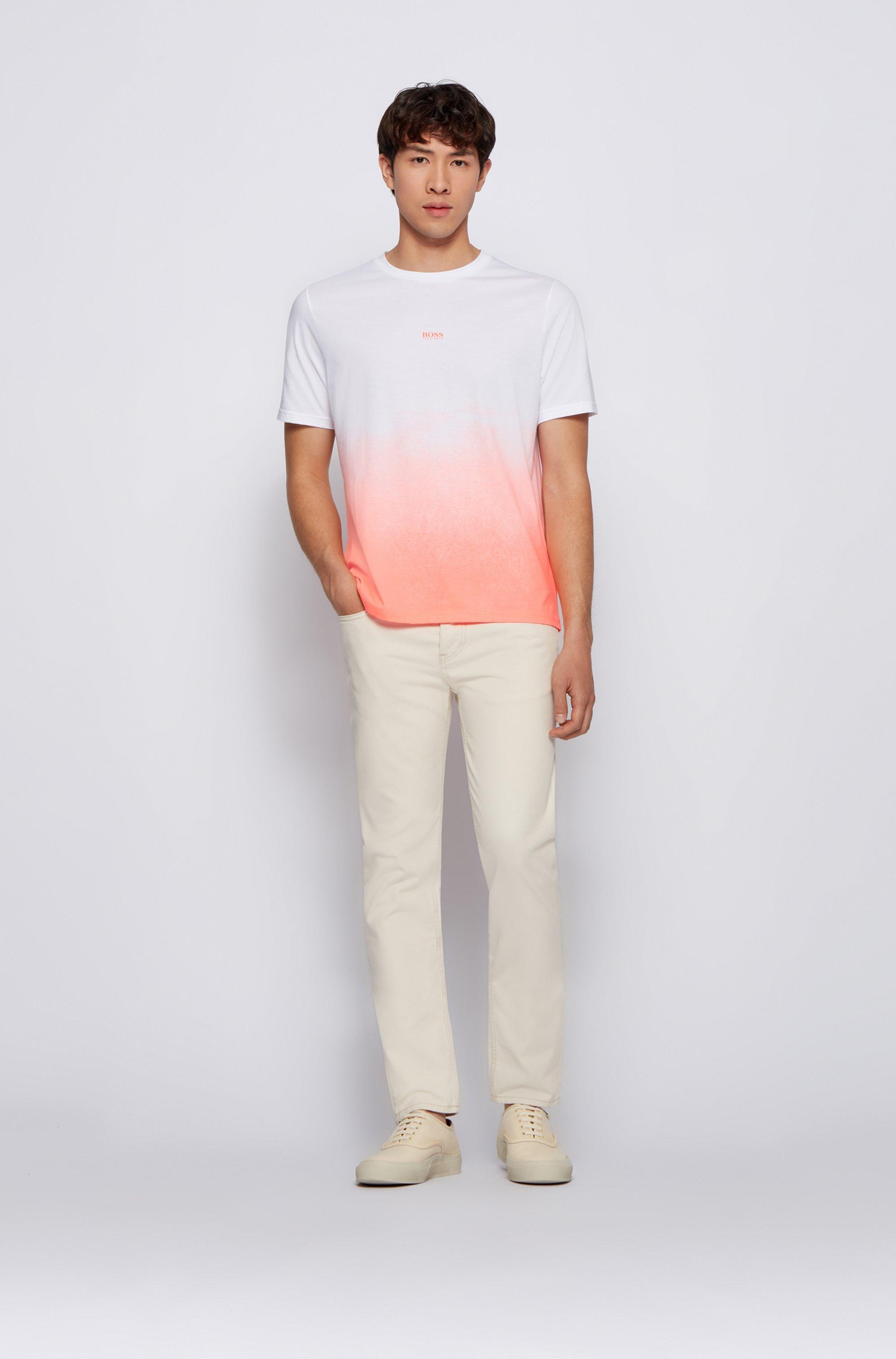 T-shirt en coton Pima à logo et imprimé en dégradé
