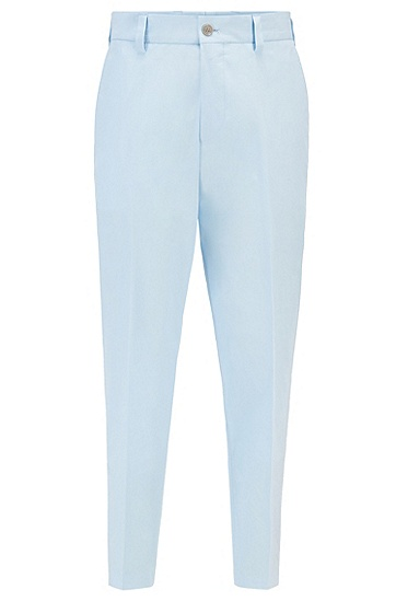 弹力棉宽松版型七分裤,  Light/Pastel Blue