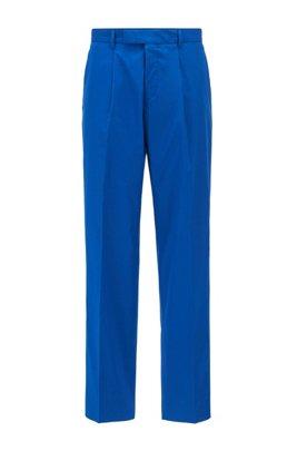 Pantalon Relaxed Fit en coton stretch, Bleu