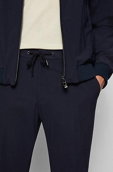 舒适裤腰弹力棉修身长裤,  Dark Blue