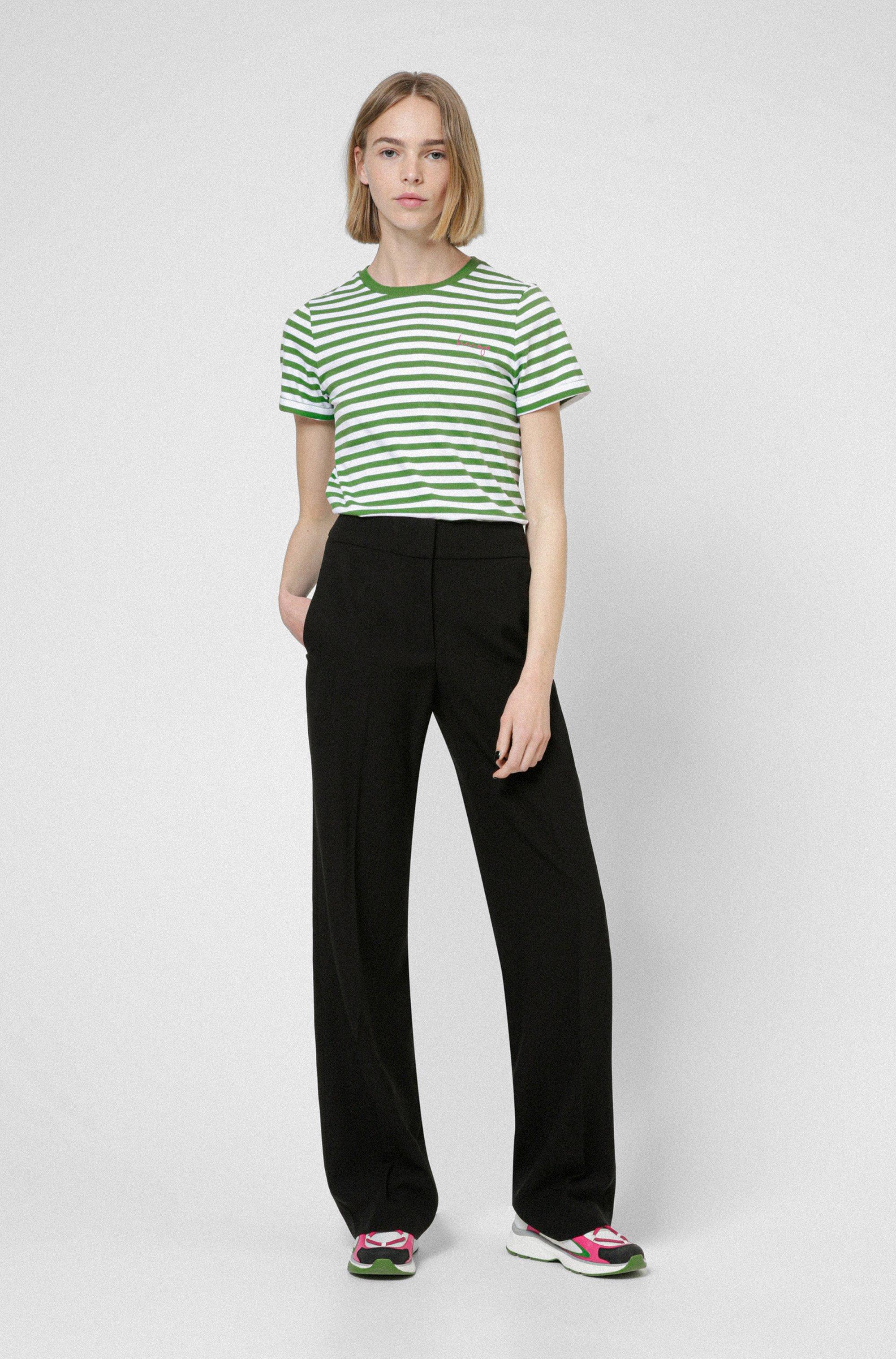 Gestreiftes Slim-Fit T-Shirt aus Bio-Baumwoll-Jersey