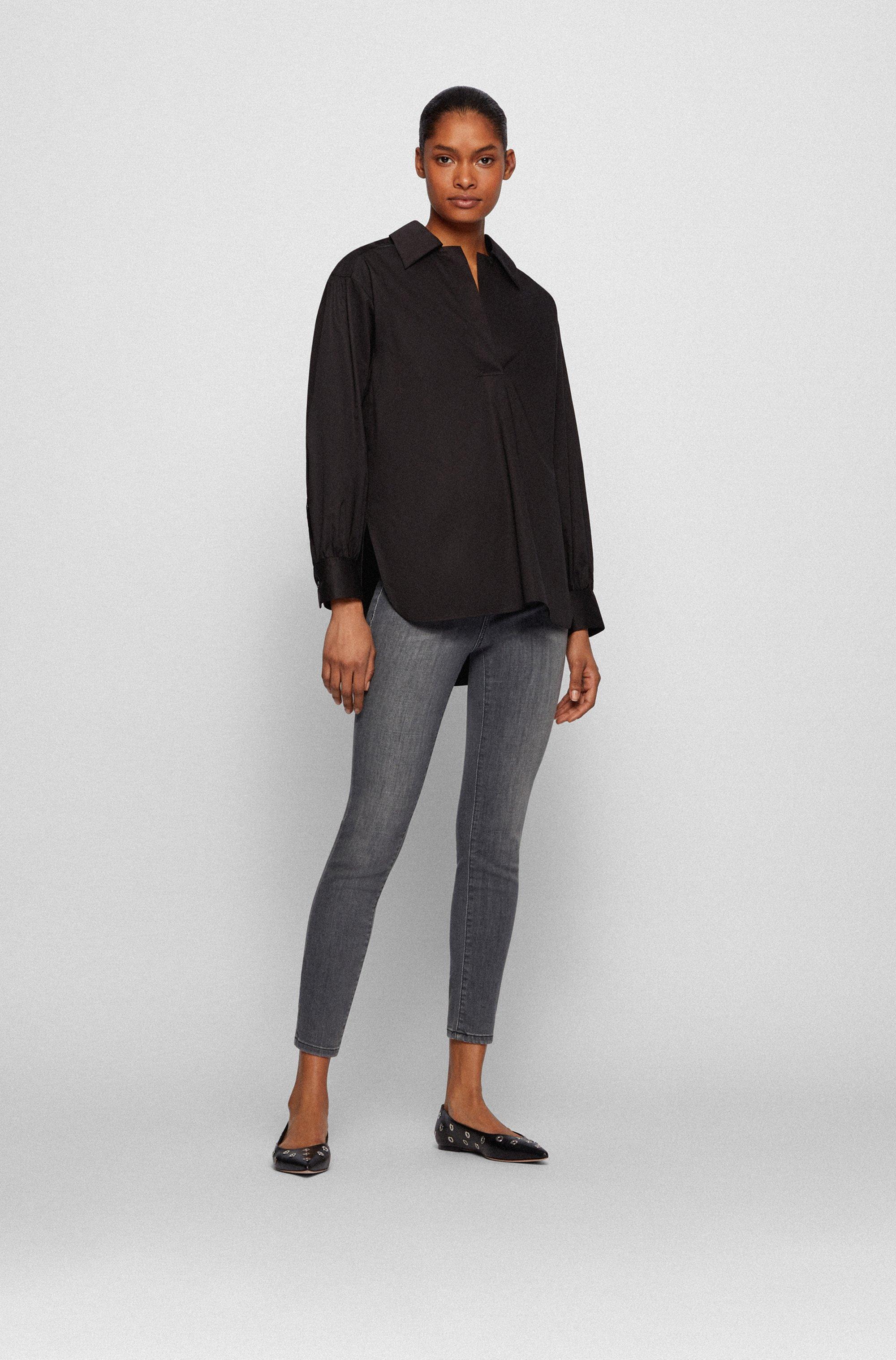 Skinny-Fit Jeans aus grauem Super-Stretch-Denim