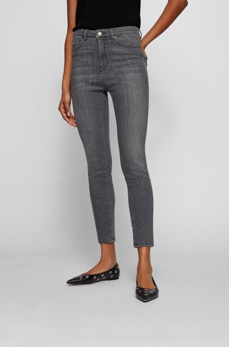 Skinny-fit jeans in grey super-stretch denim, Grey