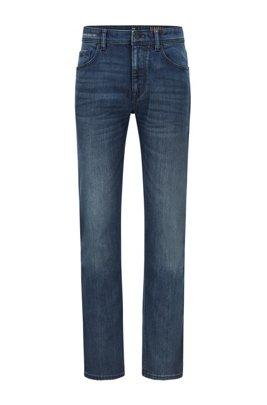 Blauschwarze Relaxed-Fit Jeans aus komfortablem Stretch-Denim, Dunkelblau