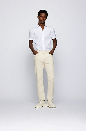 Coolest Comfort 饰面牛津棉质修身衬衫,  白色