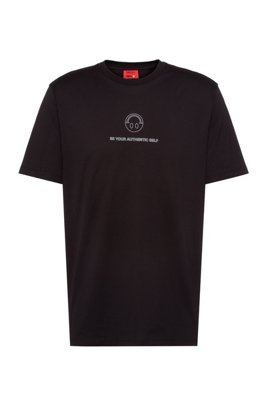 HUGO x Smiley® cotton-jersey T-shirt, Black