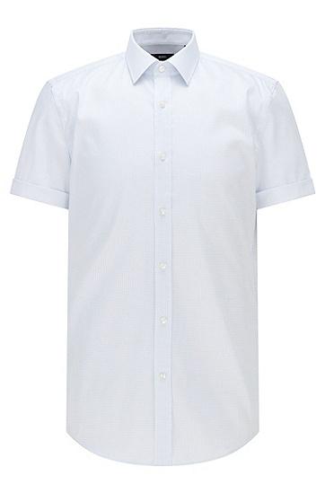 Cool Comfort 饰面棉质印花修身衬衫,  412_Navy