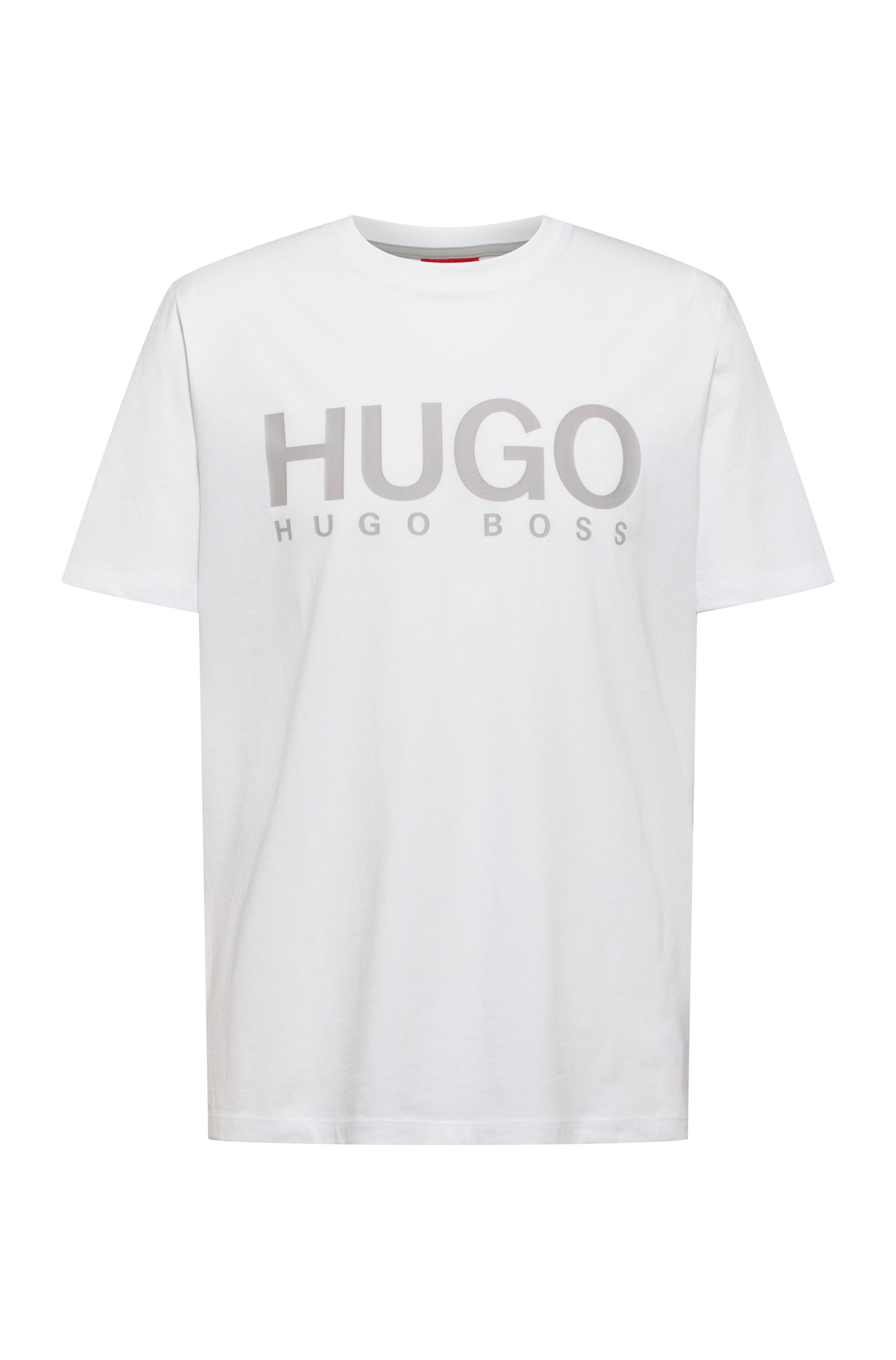 Logo-print crew-neck T-shirt in cotton jersey, White