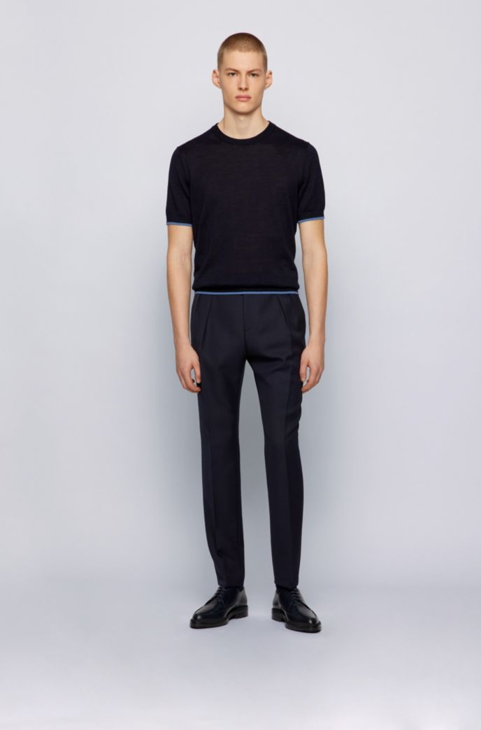 Extra-slim-fit trousers with pleat front