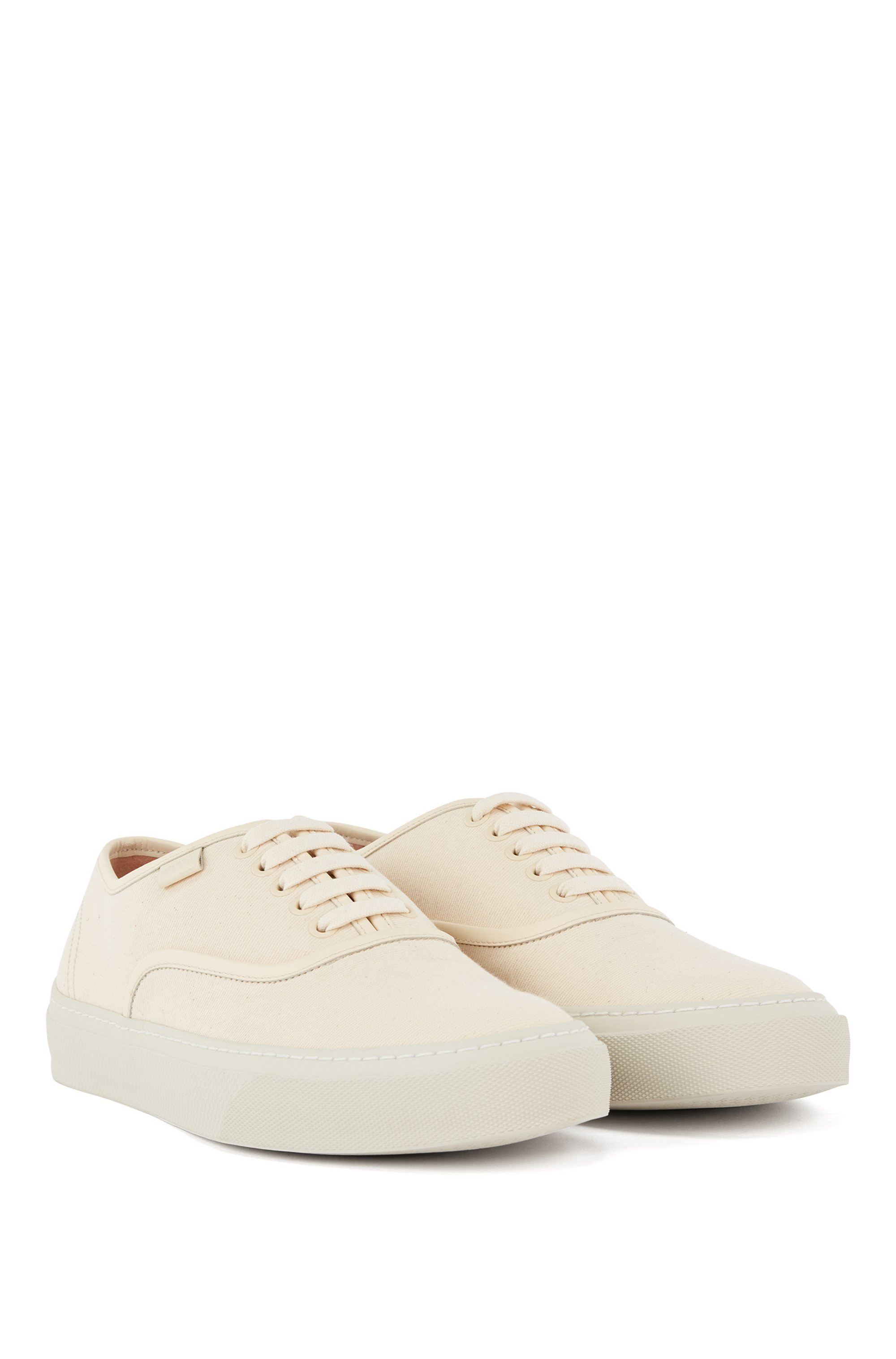 Italian-made trainers with organic-cotton-blend uppers