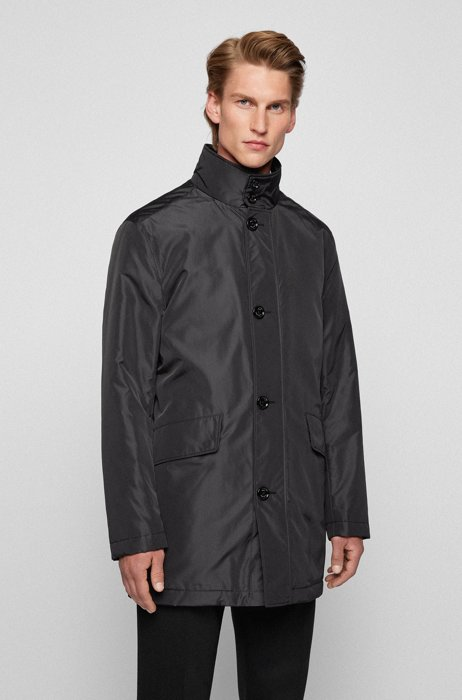 Water-repellent coat in a relaxed fit, Black