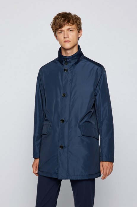 Water-repellent coat in a relaxed fit, Dark Blue