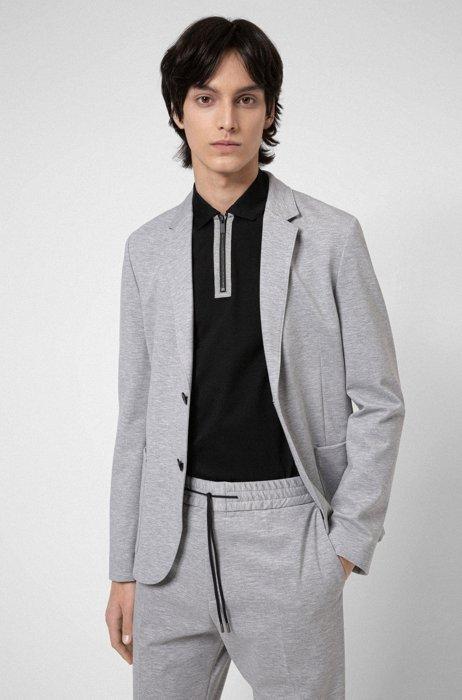Extra-slim-fit jacket in stretch jersey, Light Grey
