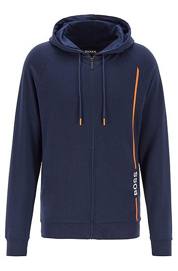 TENCEL™ Lyocell 混纺徽标装饰家居夹克,  402_Dark Blue