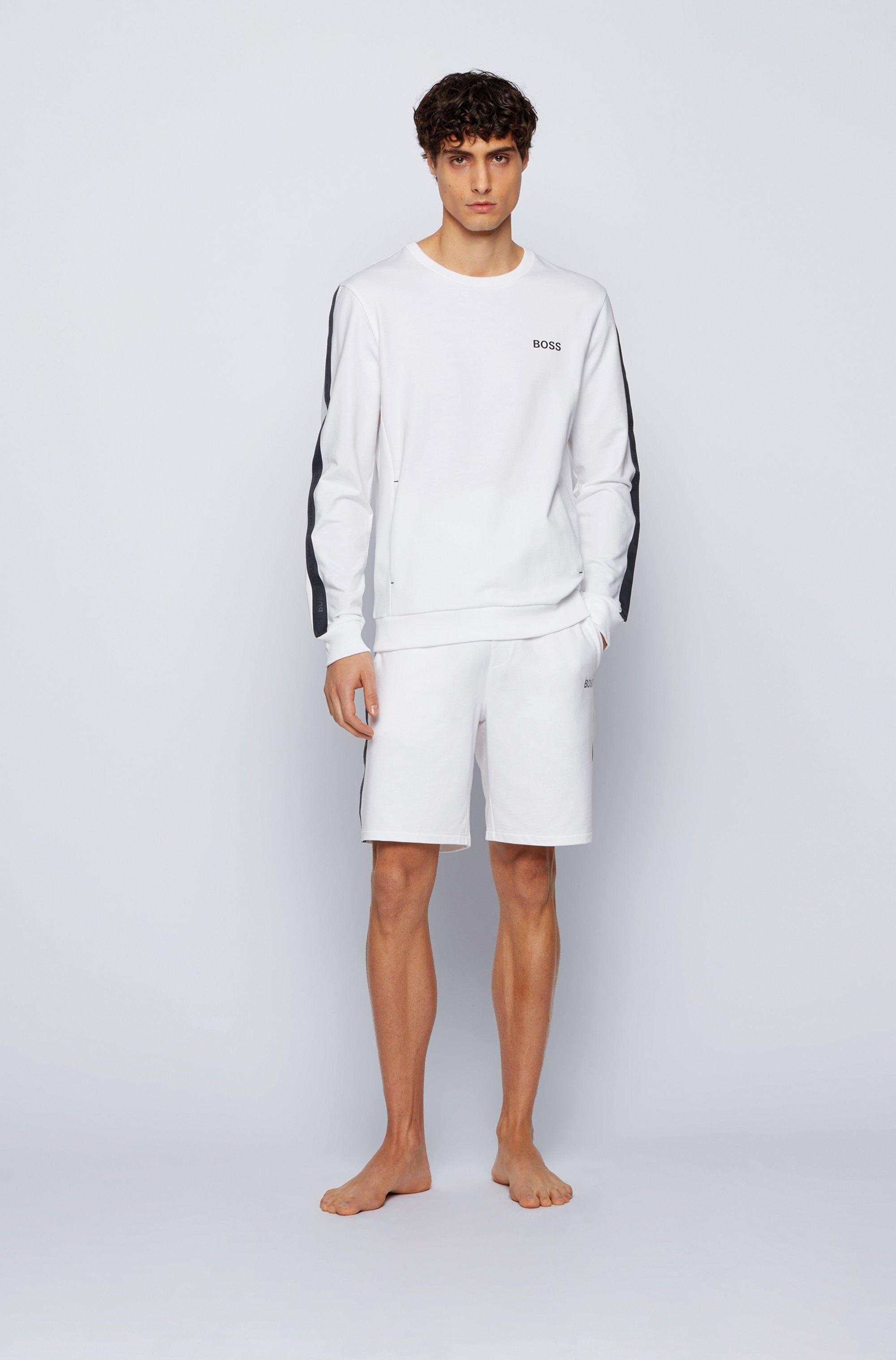 Loungewear-Sweatshirt aus Baumwoll-Terry mit Logo-Tapes