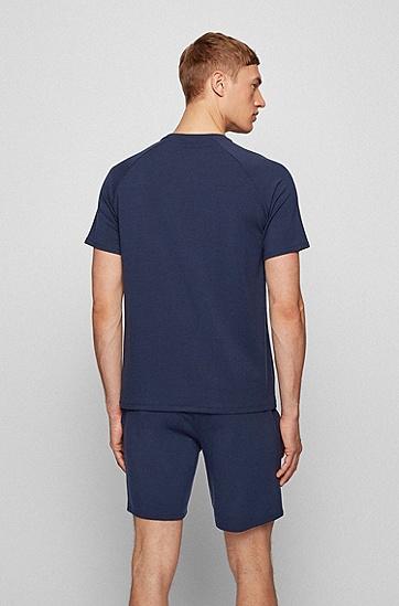 TENCEL™ Lyocell 混纺徽标印花家居便服 T 恤,  402_Dark Blue