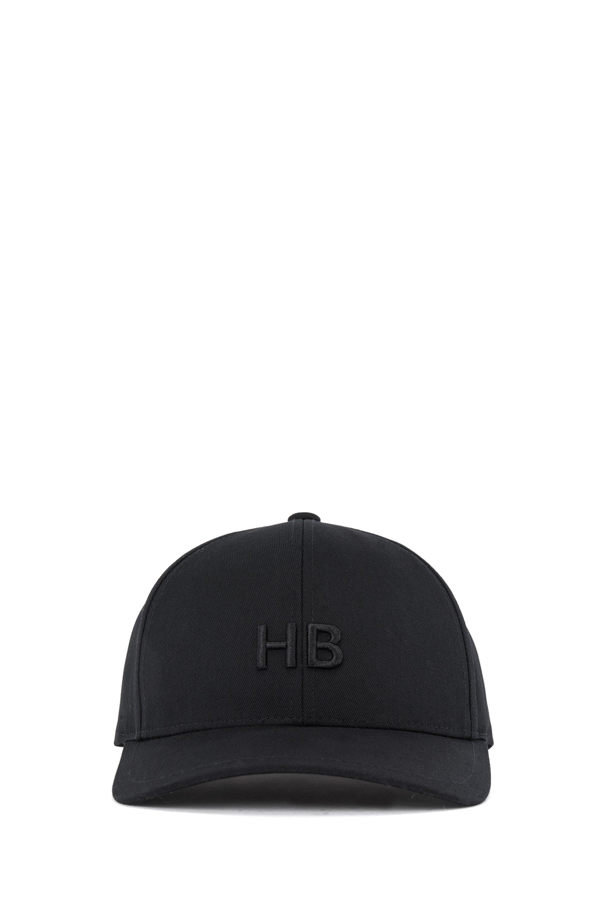 Cappellino con monogramma in twill di cotone