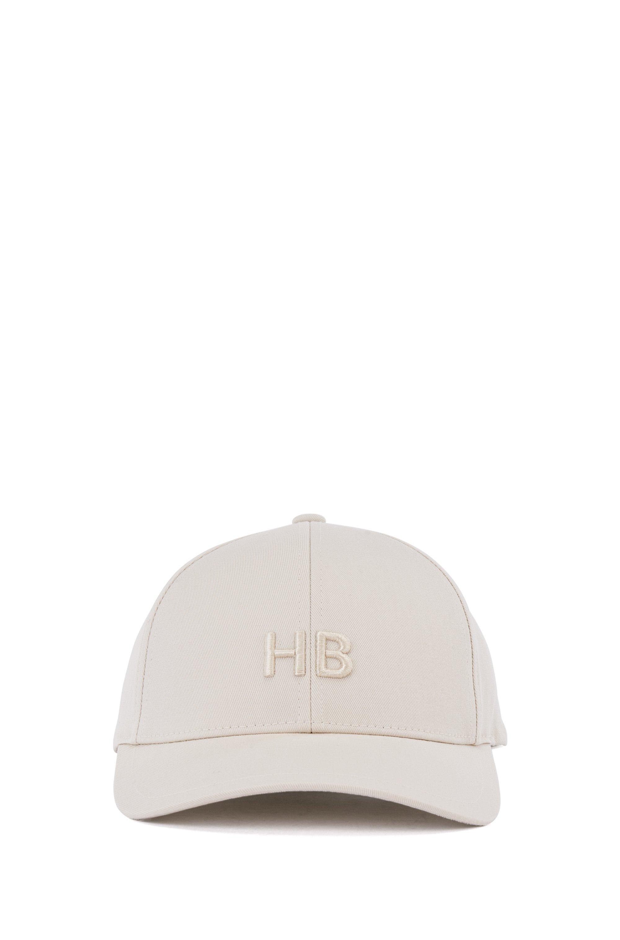 Monogram cap in cotton twill