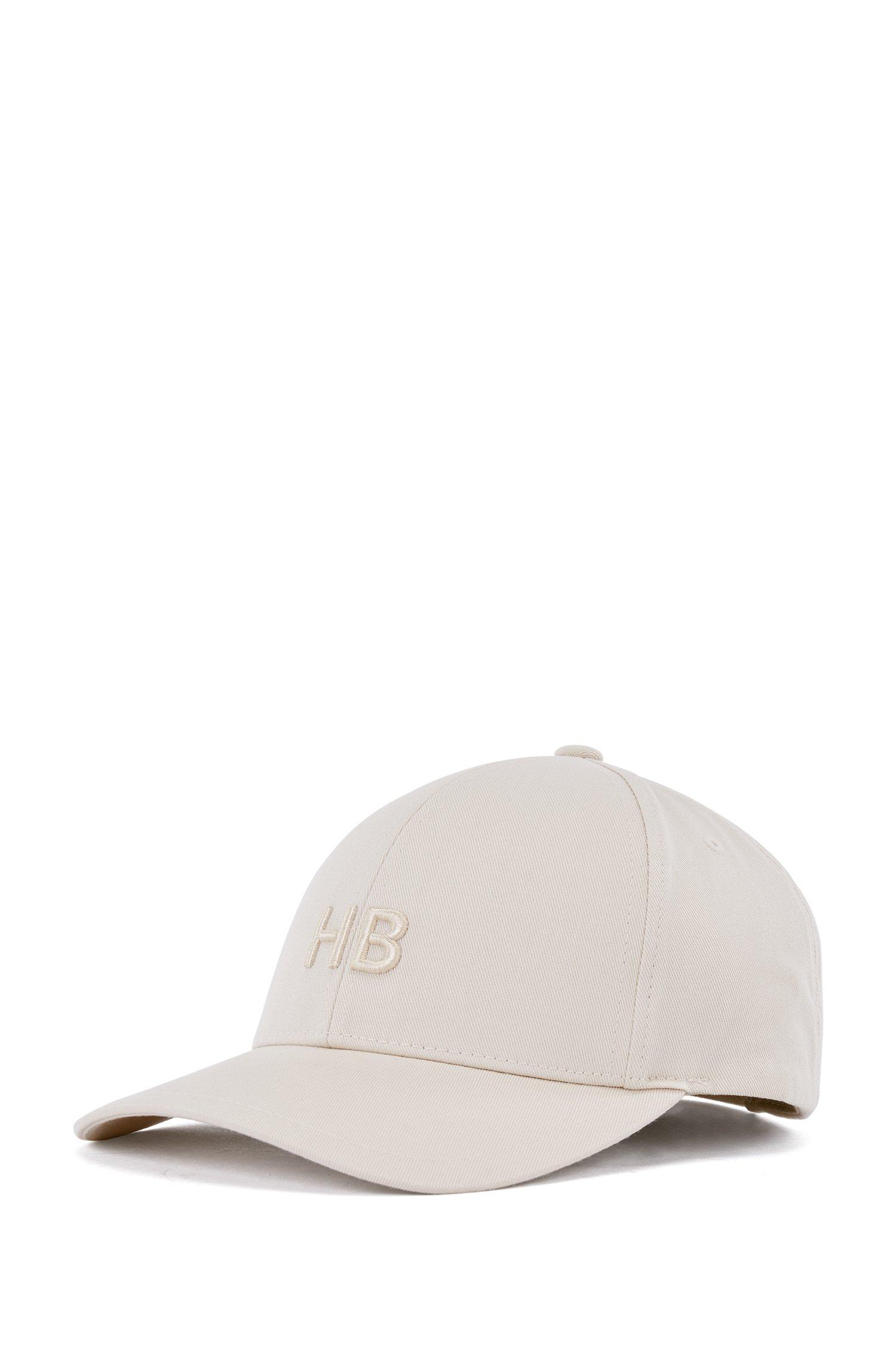Casquette en twill de coton à monogramme, Blanc