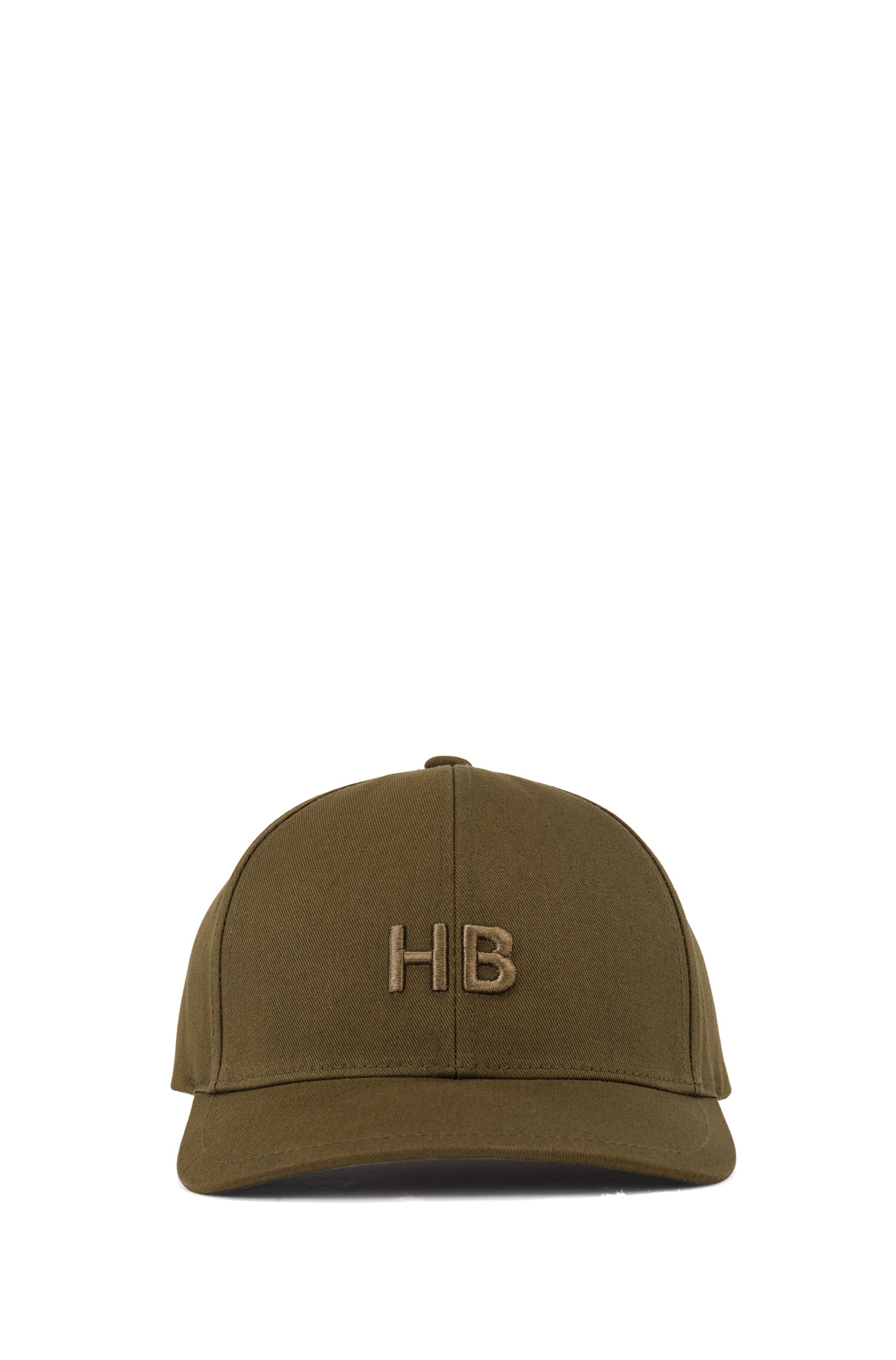 Monogram cap in cotton twill