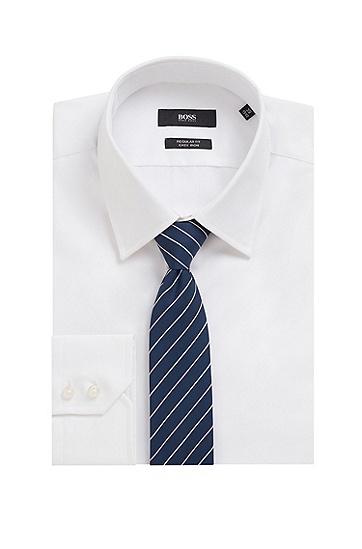 抗皱再生面料条纹领带,  691_Open Pink