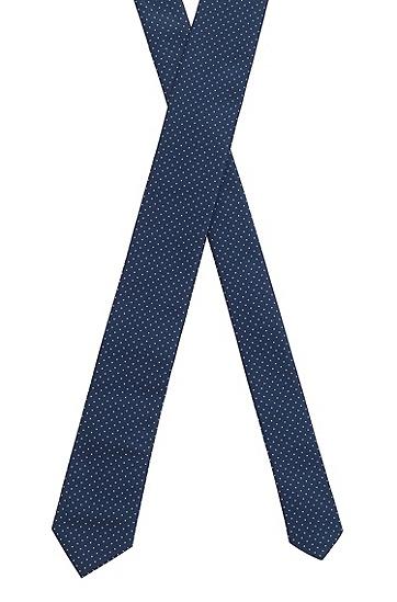 再生面料微图案提花领带,  402_Dark Blue