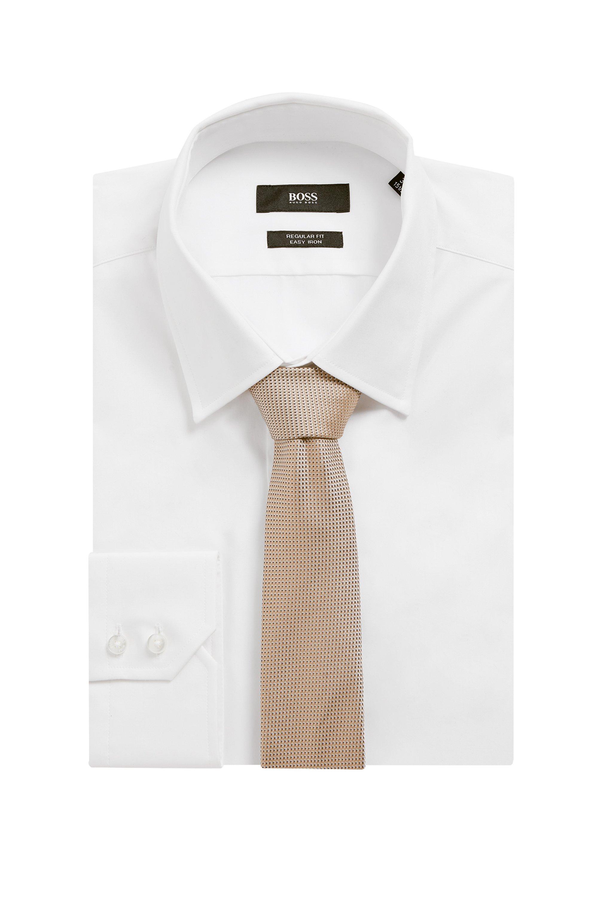 Italian-made tie in micro-patterned silk jacquard