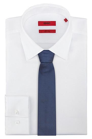 提花编织图案真丝领带,  405_Dark Blue
