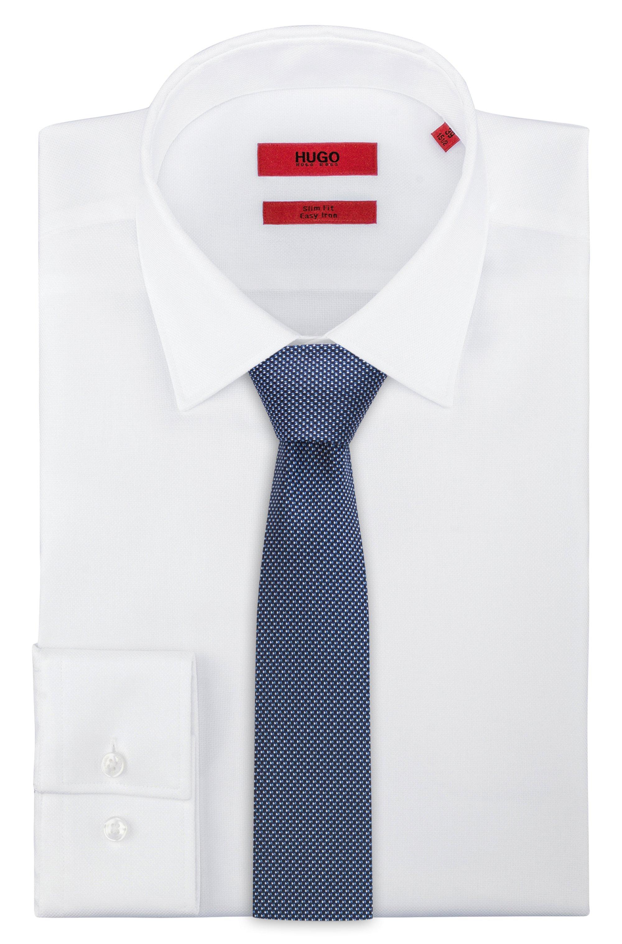 Silk-jacquard tie with micro pattern