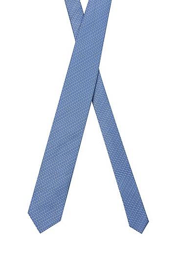 Z 字型图案装饰真丝提花领带,  459_Light/Pastel Blue