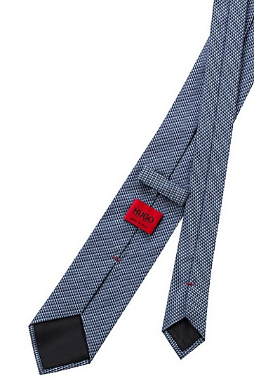 微图案真丝提花领带,  459_Light/Pastel Blue