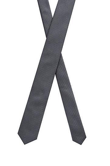 微图案真丝提花领带,  048_Silver