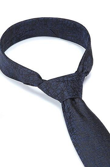 意大利制造真丝提花领带,  405_Dark Blue