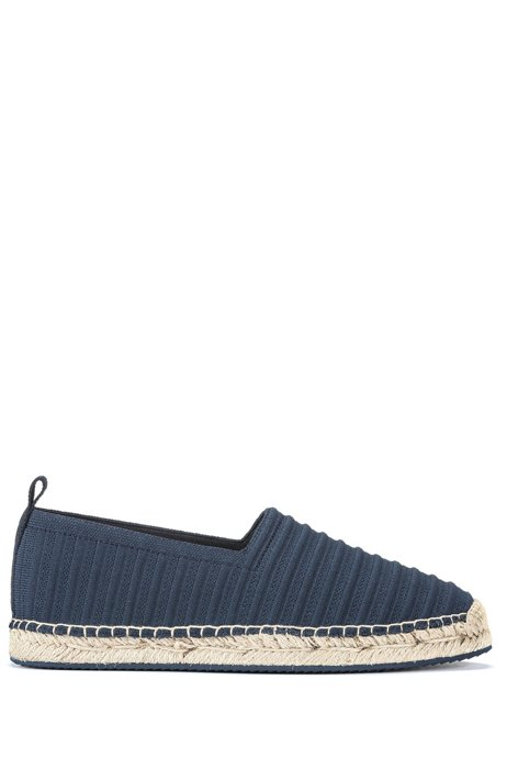 Knitted espadrilles with logo pull-loop, Dark Blue